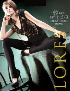 No 115/3 META' PIEDE – długie legginsy – 90 den