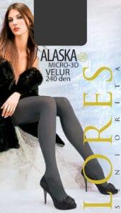 ALASKA – ciemne rajstopy zimowe – 240 den