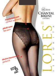 CHANTAL – damskie rajstopy bikini – 40 den