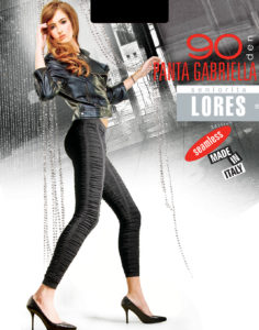 PANTA GABRIELLA – modne legginsy ze strukturalnym wzorem – 90 den