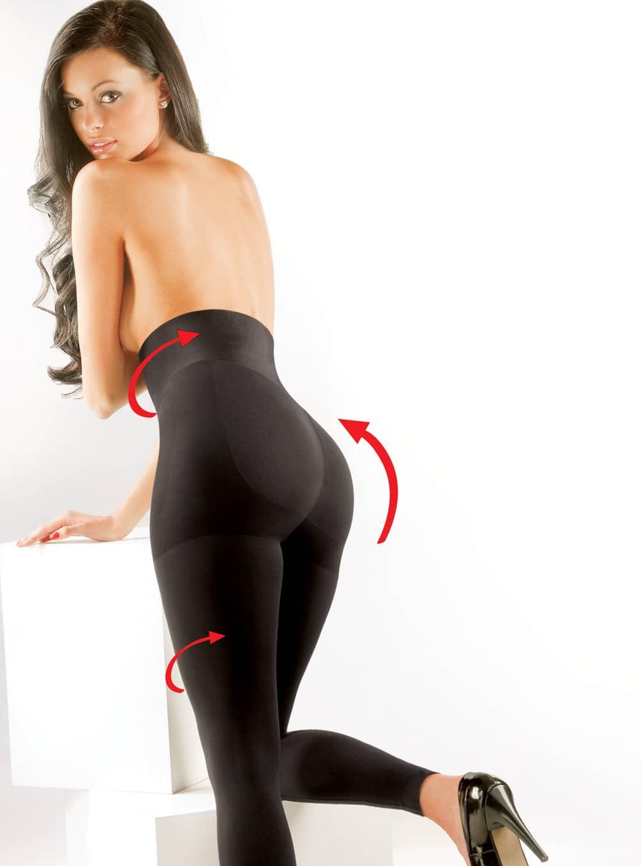 legginsy modelujące, wyszczuplające, podnoszące pośladki, push up