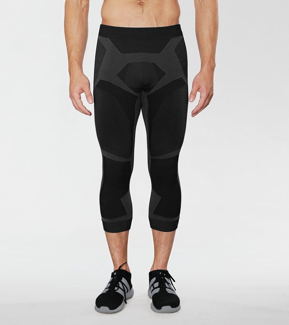 Legginsy sportowe męskie, termoaktywne, na siłownię, rower, do biegania, na narty
