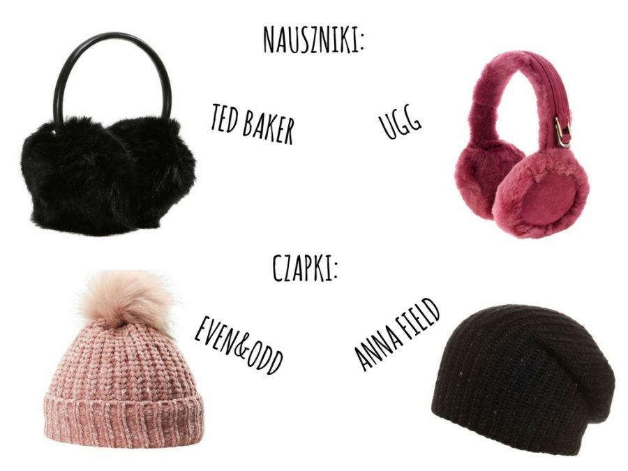nauszniki i czapki na zimę, zimowa stylizacja