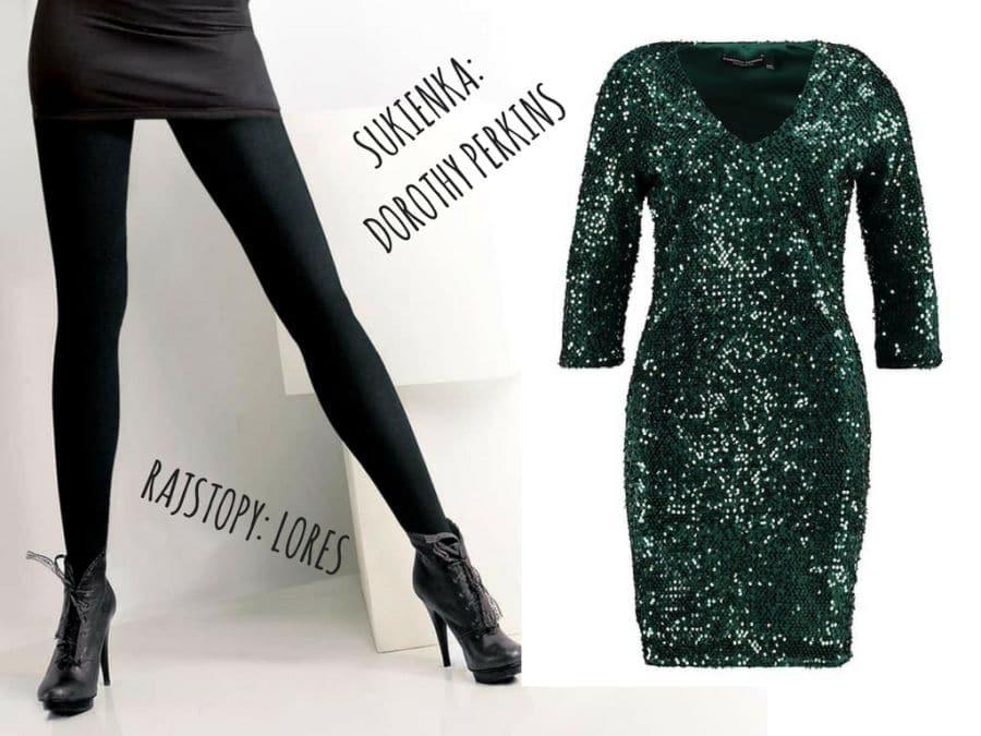 Kryjące rajstopy modelujące to świetny dodatek do obcisłej sukienki na wielkie wyjście!