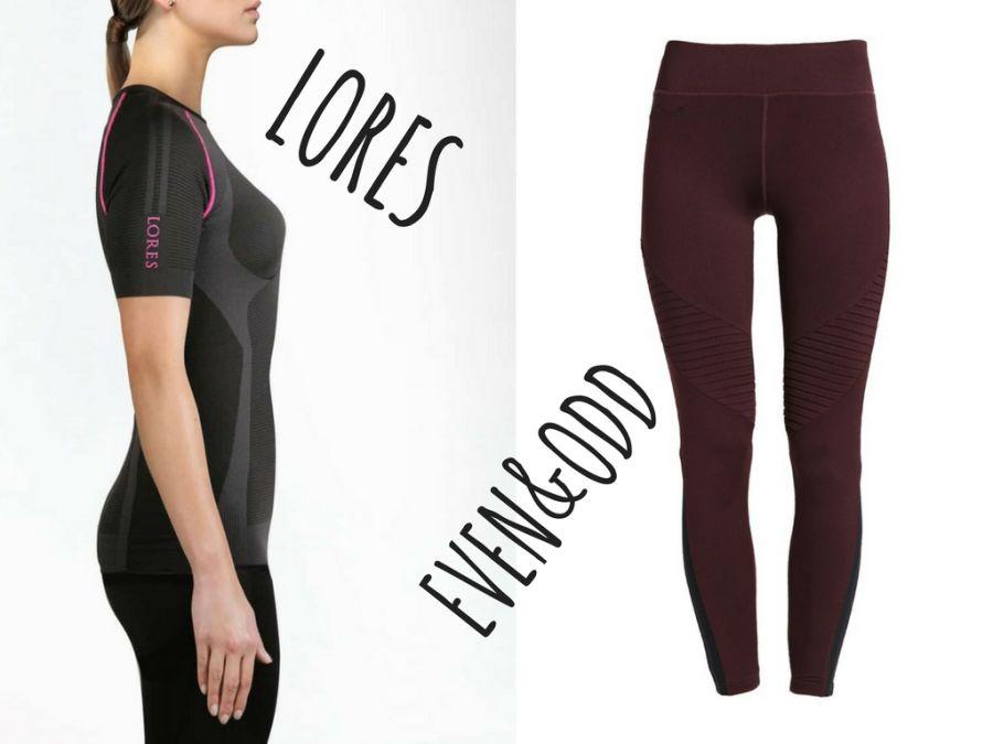 Strój do treningu na macie – długie legginsy zakrywające kolana i koszulka do ćwiczeń