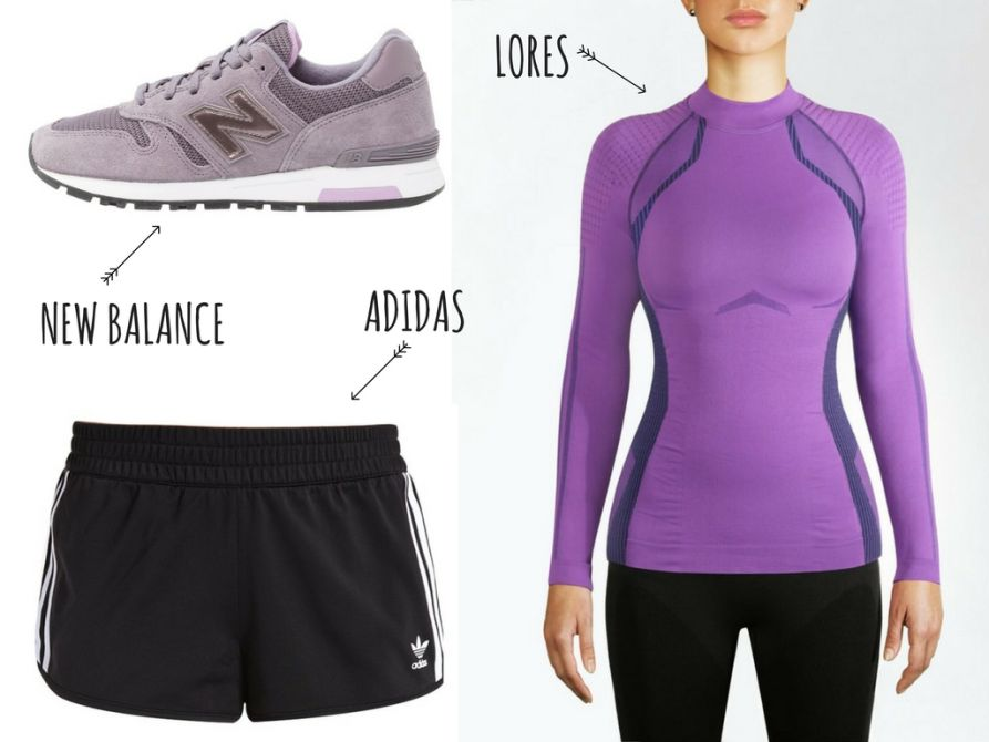 fioletowa koszulka sportowa, termoaktywna