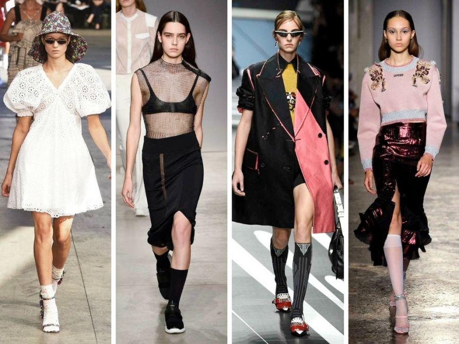Skarpetki do szpilek, podkolanówki Lores - trendy z wybiegów mody