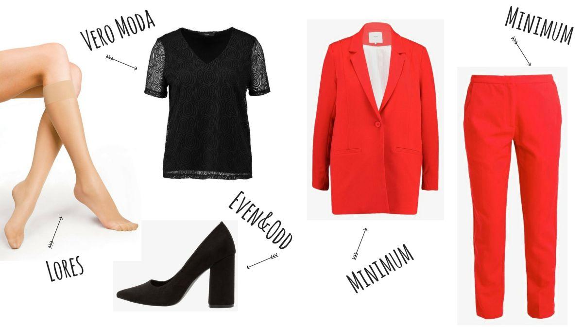 cienkie podkolanówki - biurowy dress-code
