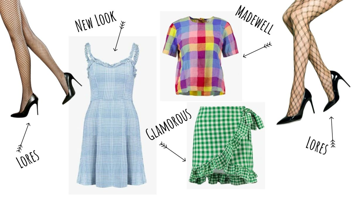 ubrania w kratke