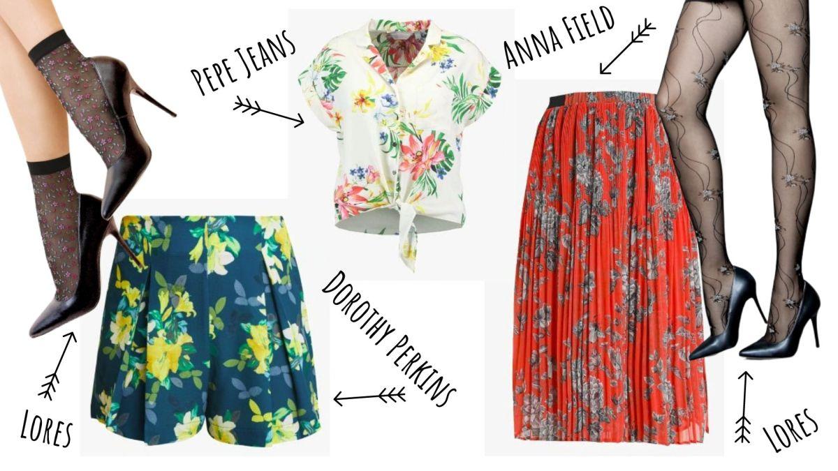 ubrania w kwiaty na lato