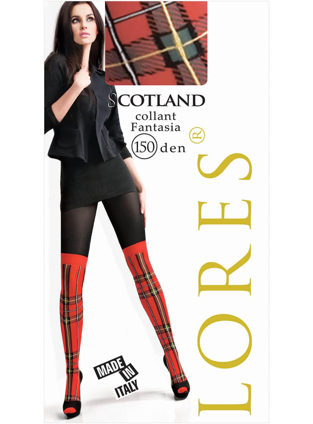 SCOTLAND – kryjące rajstopy wzorzyste – 150 den